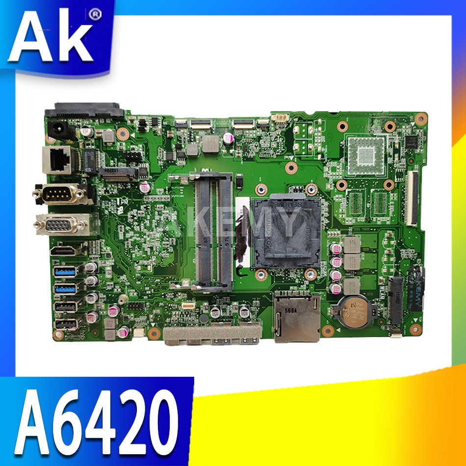Akemy For ASUS A6420 Laotop Mainboard A6420 A6420-1B Motherboard 90PT01B0-R21000