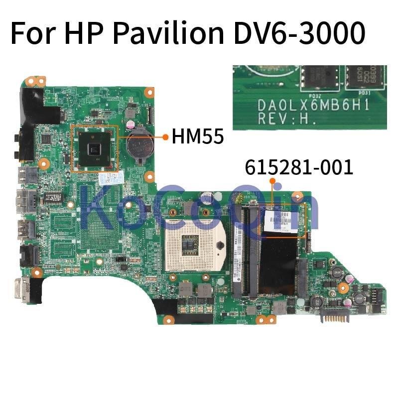 اللوحة لابتوب HP جناح DV6 DV6-3000 615281-001 مفكرة اللوحة DA0LX6MB6D0 DA0LX6MB6H1 HM55 DDR3