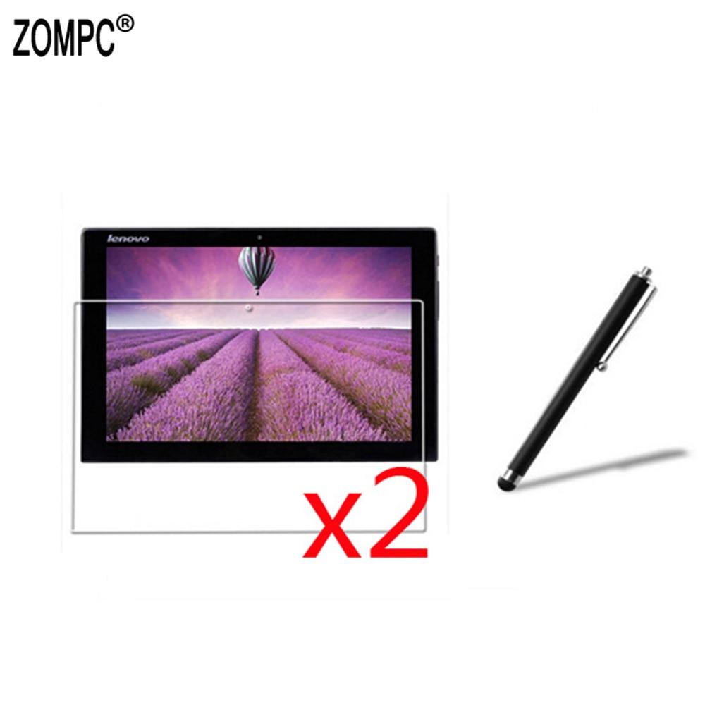 "2x macio ultra claro protetor de tela filme guardas + 1x stylus para lenovo Miix2-8 miix2 11-ith 11.6 ""Miix3-830 Miix2-10 Miix3-1030"