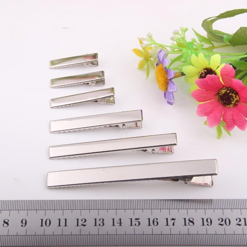 3-10CM DIY Jewelry Finding  Barrettes Accessory  Rectangle Clip  DUCK CLIP Silver color  Alligator  clips
