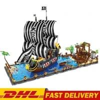 new creative ideas series booty bay bricks pirate ship model kit building blocks educational kids toys christmas gifts sailboat