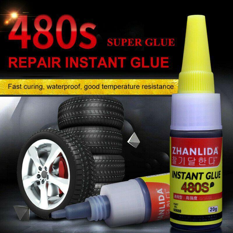 Caliente 1 Uds 20g 480S sello resistente al agua reparación de neumáticos pegamento especial Super pegamento coche goma reparación pegamento para neumáticos ventana