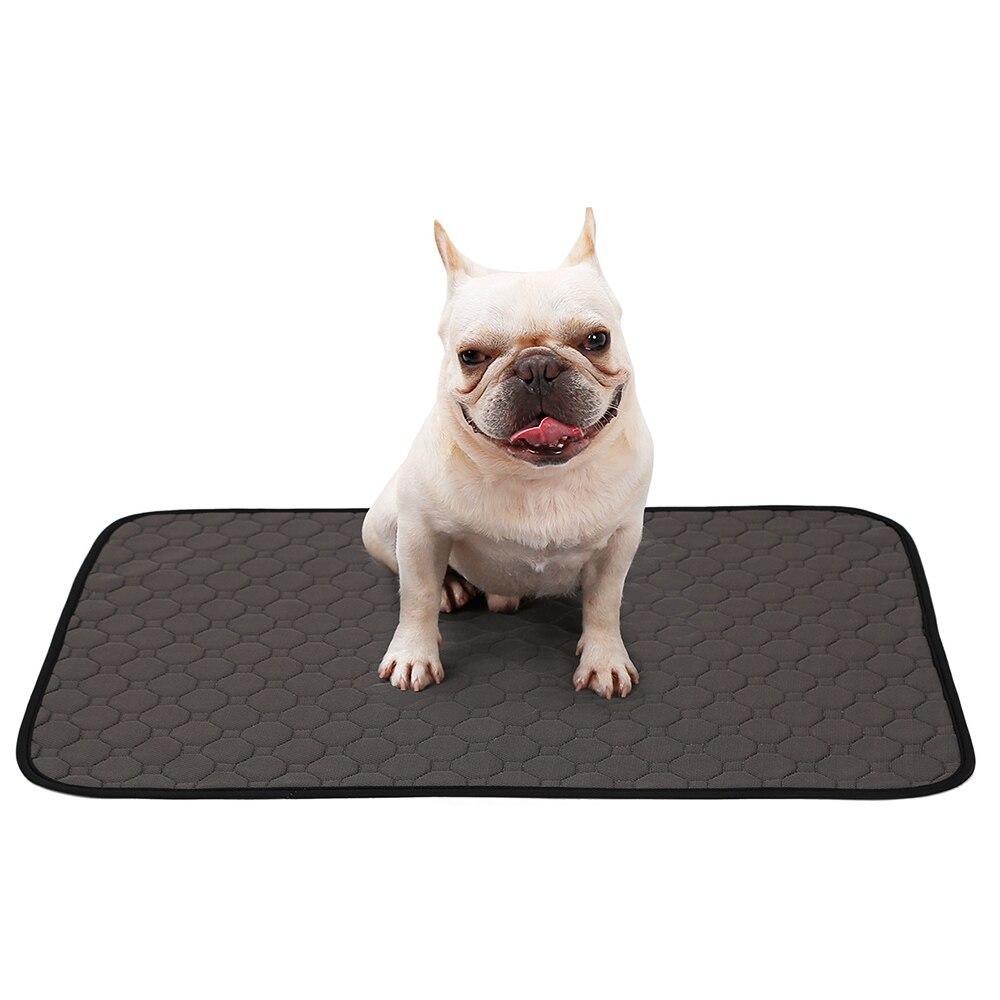 Alfombra de orina para mascotas, pañales reutilizables para perros, esterilla absorbente de orina, colchón impermeable para perros, cama para dormir, almohadilla para adiestramiento de cachorros, esterillas de orina de 4 capas