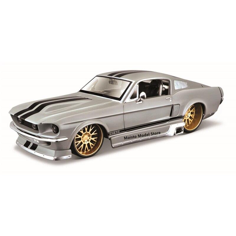 Классические автомобили Maisto 1:24 1967 Ford Mustang GT, высокодетализированная Точная Модель литья под давлением, Коллекционная модель автомобиля, под...