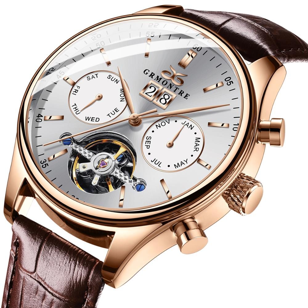 GRMONTRE-ساعة أوتوماتيكية للرجال ، ماركة جديدة ، فاخرة ، Steampunk ، ميكانيكية ، ساعة عمل ، رجال أعمال ، relogio luxo mecanic