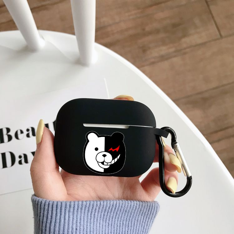 anime tengen toppa earphone case for airpods pro case wireless bluetooth for apple airpods pro case cover silicone case Anime Danganronpa Silicone Case for Airpods Pro Case Wireless Bluetooth for Apple Airpods Pro Case Cover Earphone Case