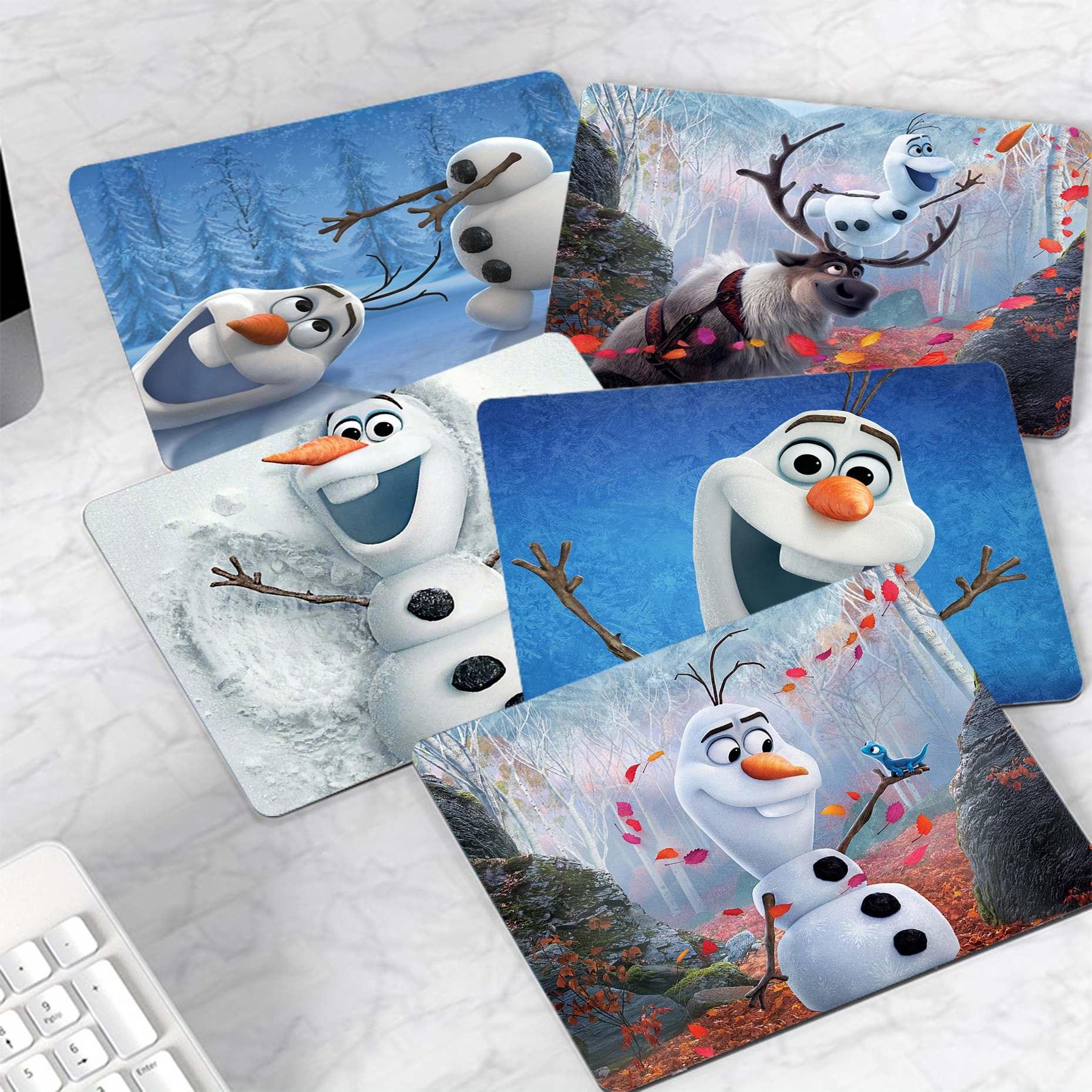 Новый игровой коврик для мыши Disney Olaf, Холодное сердце, компьютерный коврик для компьютера, гладкий коврик для письма, настольные компьютеры,...