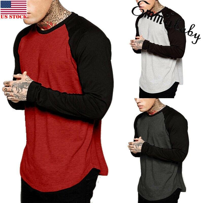 Camiseta de manga larga de béisbol para hombre, camiseta de equipo deportivo de camuflaje a la moda, camiseta raglán
