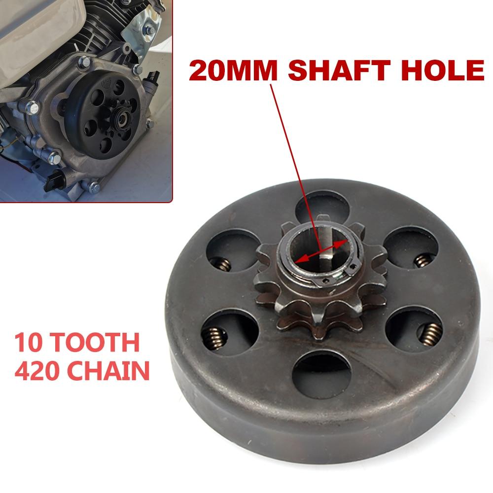 ل الذهاب كارت Minibike متعة الطرد المركزي التلقائي مخلب 20 مللي متر 10 الأسنان 420 سلسلة 168 محرك الكارتينغ مفتاح بنيت أجزاء