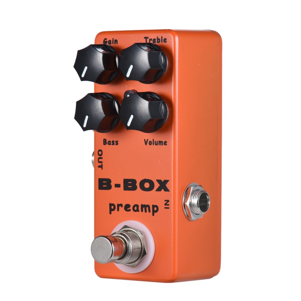 MOSKY B-Box Guitar Effect Pedal Preamp Overdrive Electric Bass Guitar Overdrive Effect Pedal US with Analog Signal Path True