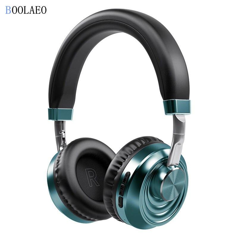 Auriculares Bluetooth portátiles, auténticos auriculares inalámbricos, bluetooth 5,0, sonido estéreo HIFI con TF, 40mm, altavoz, micrófono, auriculares, música