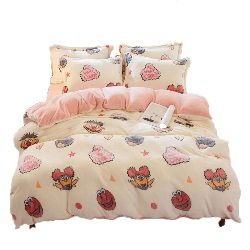 Juego de 3 uds de edredón de lana de Coral blando para cama, edredón de lana liso de invierno, tamaño King