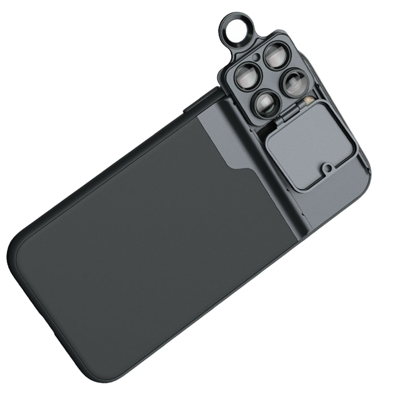 Funda de teléfono lente gran angular Macro ojo de pez filtro del retrato lente, para iPhone 11 Pro Max