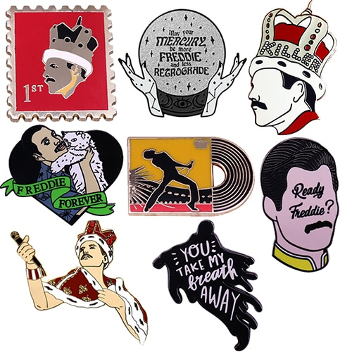 Freddie Mercury Enamel Pin Queen Music Badge Gorgeous Outfits Or backpacks Accessory