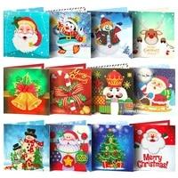 5d diamond painting christmas cards children diamond embroidery santa claus greeting postcards diy diamond mosaic handmade gift