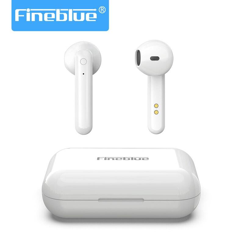 Fineblue Tws беспроводные Bluetooth наушники 6D стерео супер бас двойной микрофон PK H1 чип i60 i80 i200 i500 i800 i1000 i2000 TWS