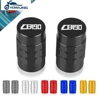 with logo cb190 for honda cb190 moto accessorie wheel tire valve stem caps cover air aluminum alloy valve caps stem cover