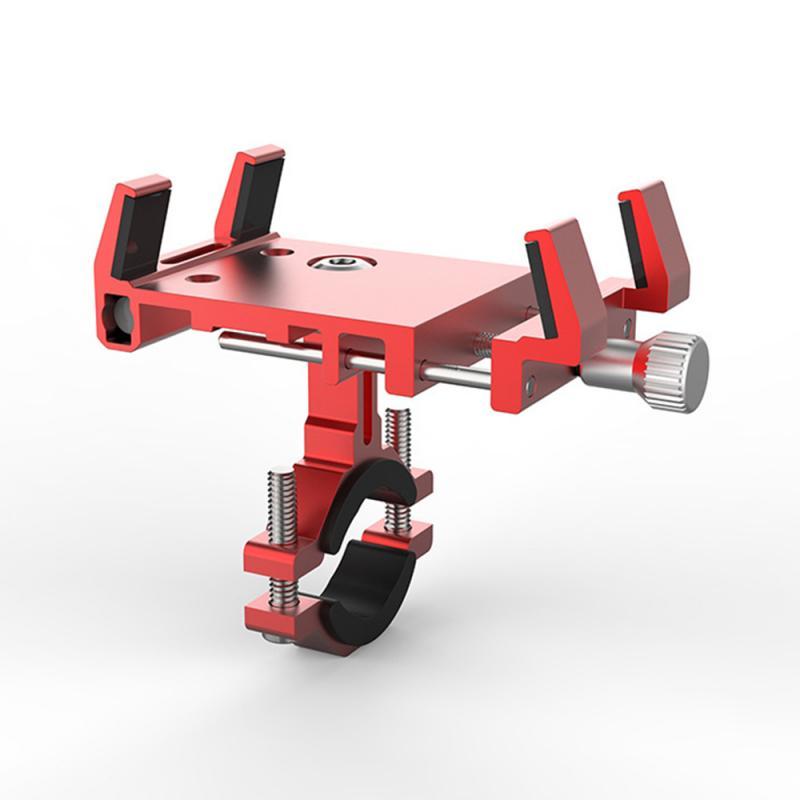 Soporte fijo para teléfono de aromaterapia de aluminio con cuatro pinzas, palillos de aromaterapia fijos, se puede instalar en aleación, soporte para teléfono para bicicleta