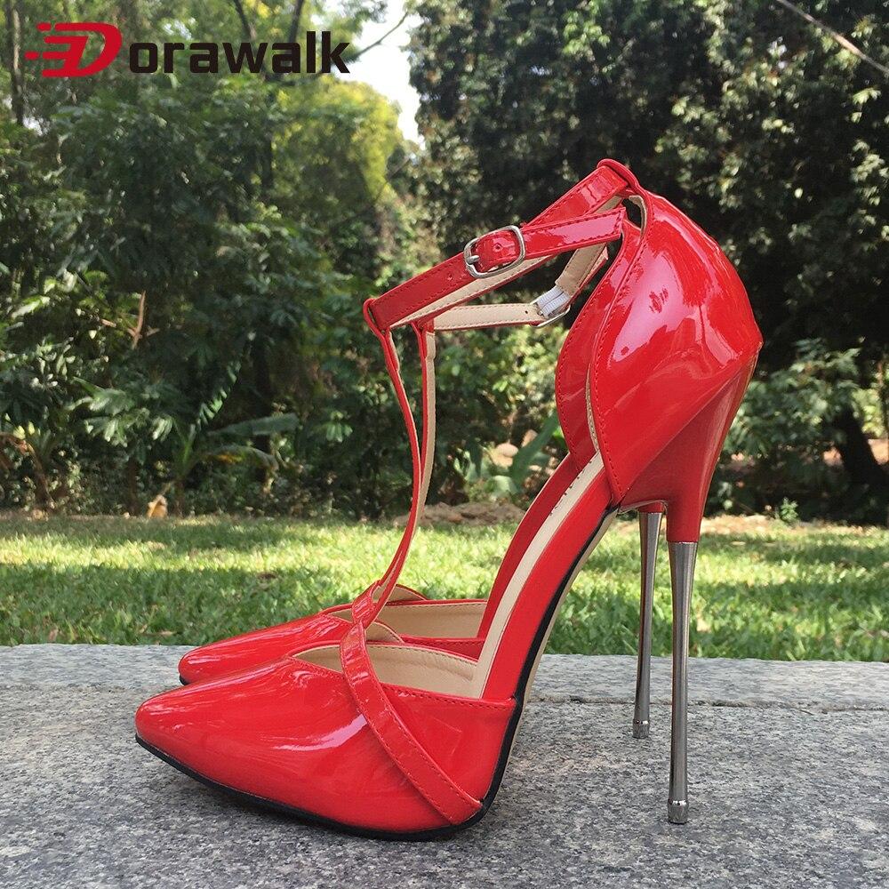 الكاحل حزام 16 سنتيمتر المتطرفة عالية الكعب مثير امرأة مضخات صنم نموذج تظهر SM تأثيري نادي مثلي الجنس السحب الملكة الصليب مضمد أحذية للجنسين
