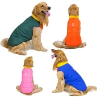5 colors winter pet big dog jacket coat thickening warm puppy dog clothes with hood pets clothing for golden retriever huskie