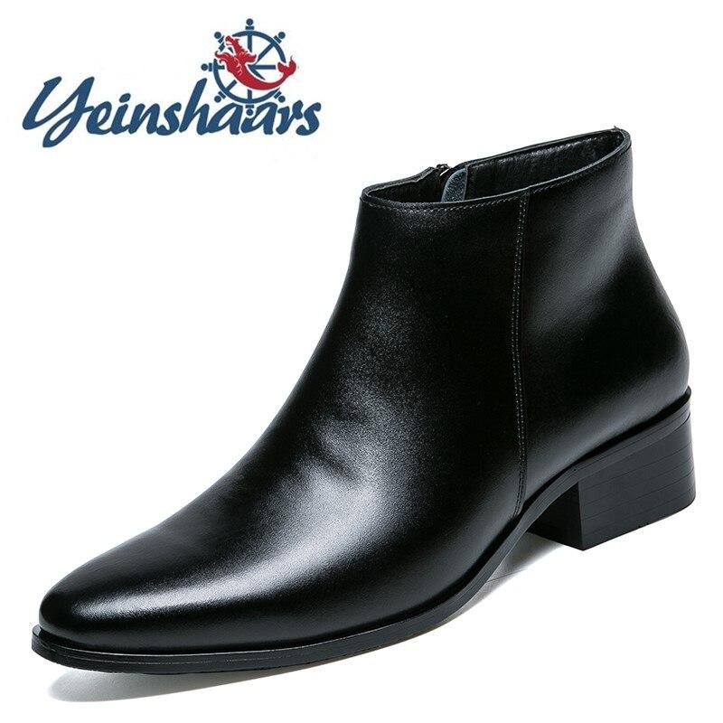 رجل الأحذية أزياء Adulto الأحذية الذكور جلد طبيعي تشيلسي الأحذية الأعمال الرسمي الأحذية الكلاسيكية عارضة الجلود التمهيد رجل نمط