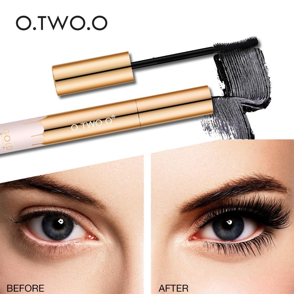 O.TWO.O 4D Fiber Lash Mascara Lengthening Eyelash Curving Brush Eyes Makeup Waterproof Long Lasting Mascara Facil Cosmetics