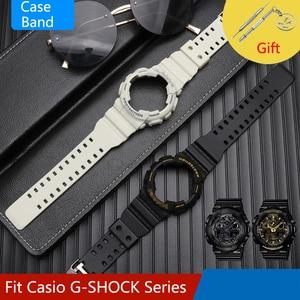 Watch case & Strap for casio watch band silicone bracelt blet casio g-shock watchband smart watch accessories pin buckle
