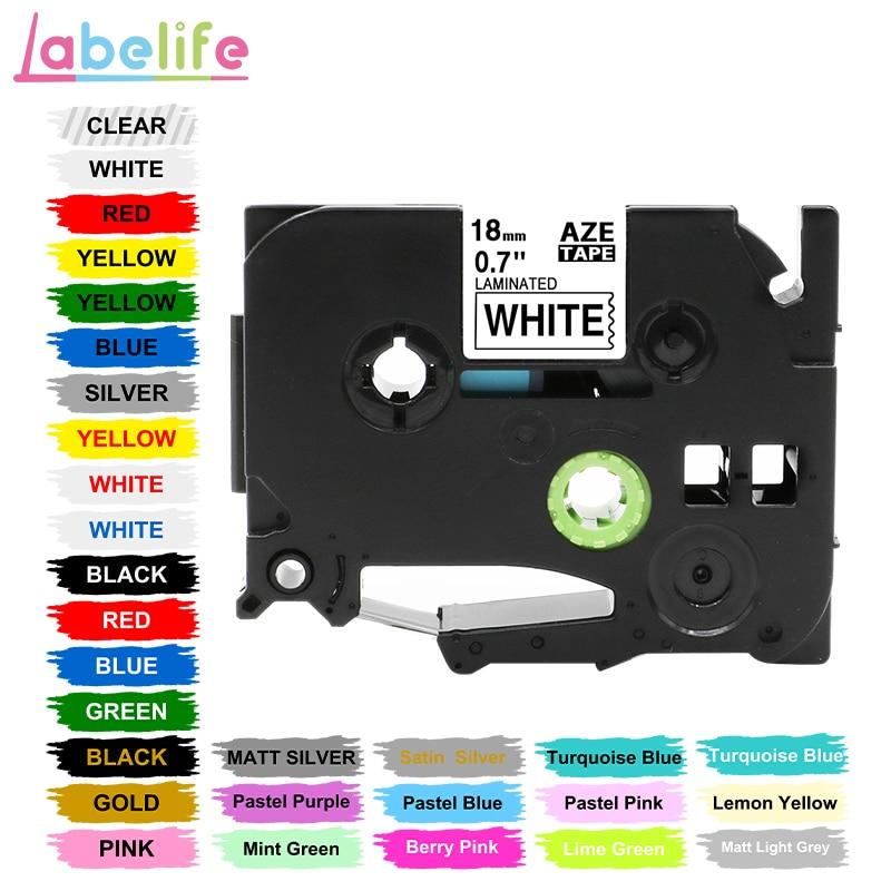 Labelife 1 шт. tze 241 31 цвет 18 мм черный на белом TZ241 TZe-141 Совместимость для Brother P-Touch этикетка лента PT-D210 принтер этикеток