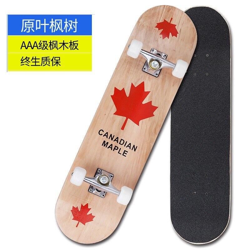 Скейтборд кленовый для начинающих, профессиональный скейтборд для взрослых и подростков, длинный скейтборд, уличная щетка Rullebrett, развлечен...