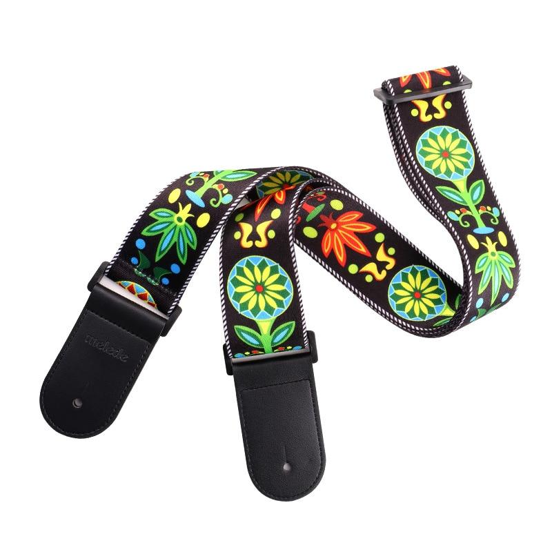 Color Étnico guitarra correas acústica guitarra fluorescente hombro Correa guitarra partes