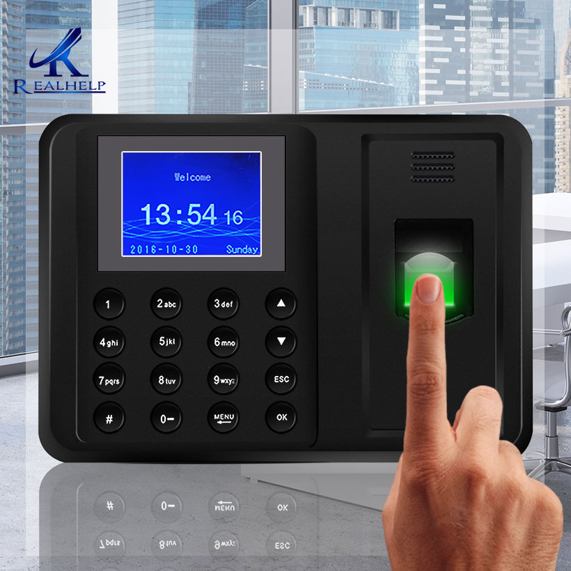 Portuguese USB Biometric Fingerprint Attendance Machine NO software Clock Recorder 2000 Users Employee Checking