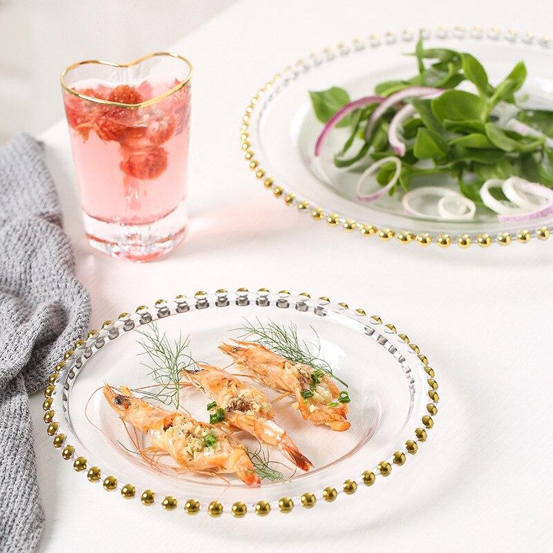 Ins-طبق سلطة خضروات زجاجي على الطراز الاسكندنافي ، طبق سلطة خضروات شفاف بنوم بنه