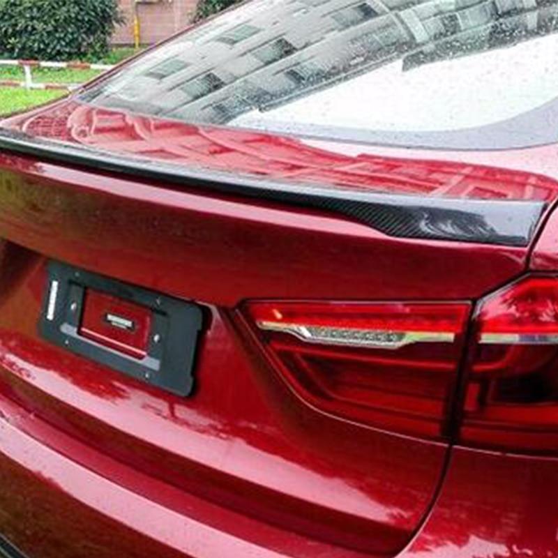 Para BMW X6 E71 Modificado M-Executar Estilo Fibra De Carbono Compartimento de Bagagem Traseiro Spoiler Asa Carro 2008 ~ 2013