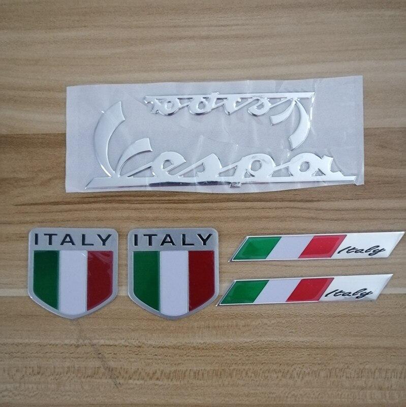 3D İtalya İtalyan bayrağı araba sticker rozet amblem çıkartması PIAGGIO Vespa GTS 300 LX125 LX150 125 150 ie Sprint Primavera LX LXV