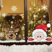 merry christmas wall stickers fashion santa claus window room decoration pvc vinyl new year home decor removable