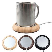 Tapis de boisson chauffant pour boissons   Mini, Grain de bois portatif, USB, chauffe-tasse, tapis chauffant, pour boissons chaudes, caboteur