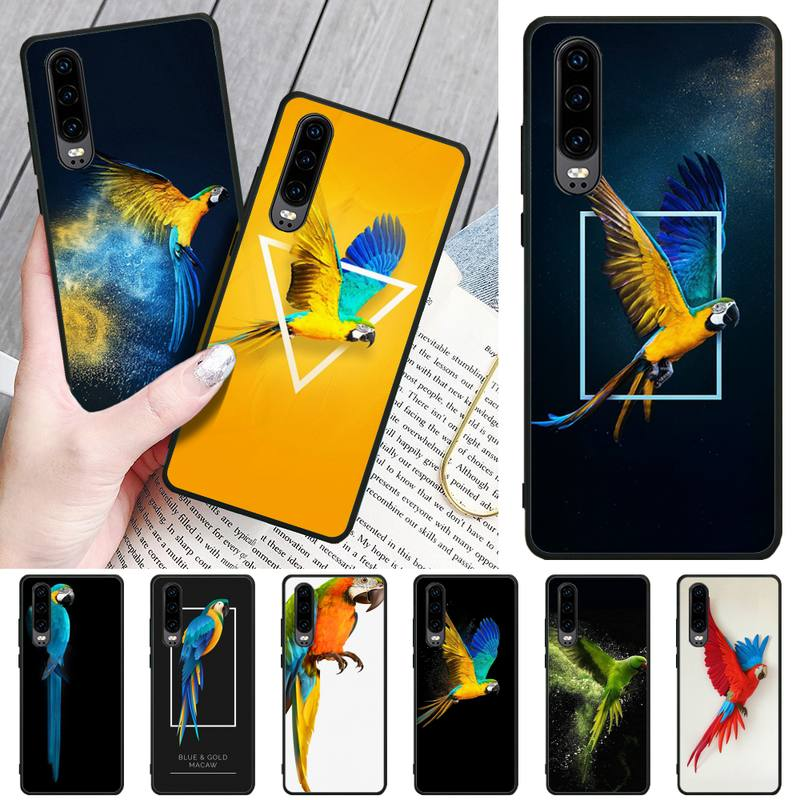 Wumeiyuan Beautiful parrot Bling Cute Phone Case For Huawei P8 lite 2017 P9 P10 20Pro Lite Pro P30lite P Smart 2019