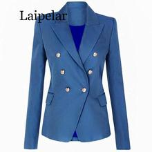 Blazer Women Office Formal Double Breasted Buttons Blazer Plus Big Size Women Blazers Drop Ship