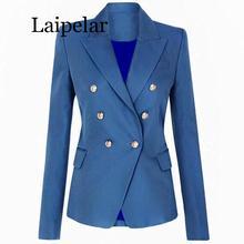 Blazer Women Office Formal Double Breasted Buttons Blazer Plus Big Size Women Blazers Drop Ship