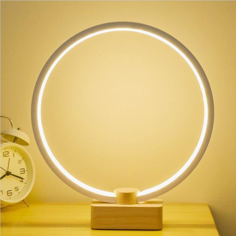 LED ليلة ضوء الجدول مصباح لغرفة النوم لمبة مكتب الطفل هدية غرفة المعيشة عكس الضوء أباجورة