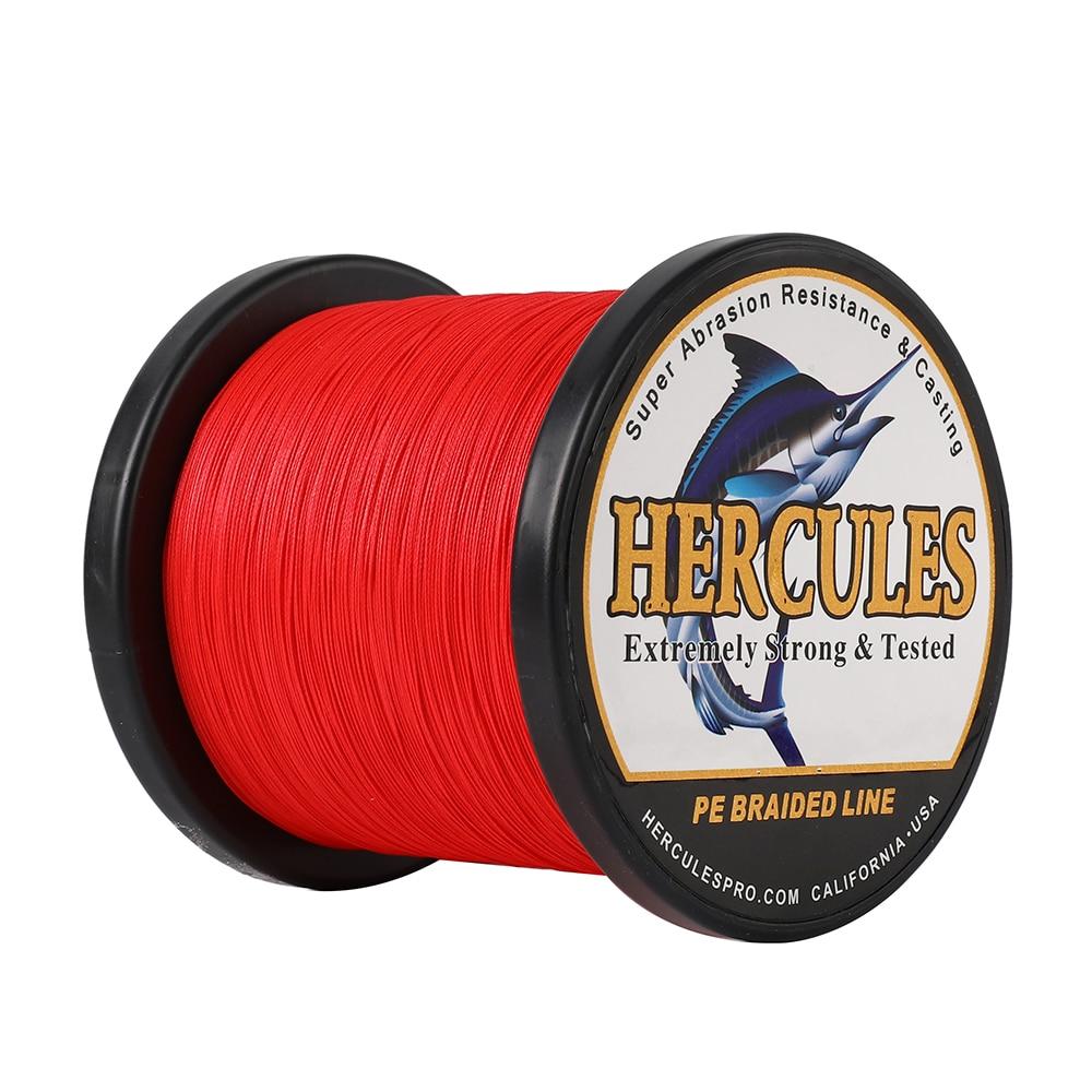 HERCULES line 8 braids Fishing line No color loss 100m-1000m PE 10-70LB Knitting Primary thread Peche Multifilament Pesca enlarge