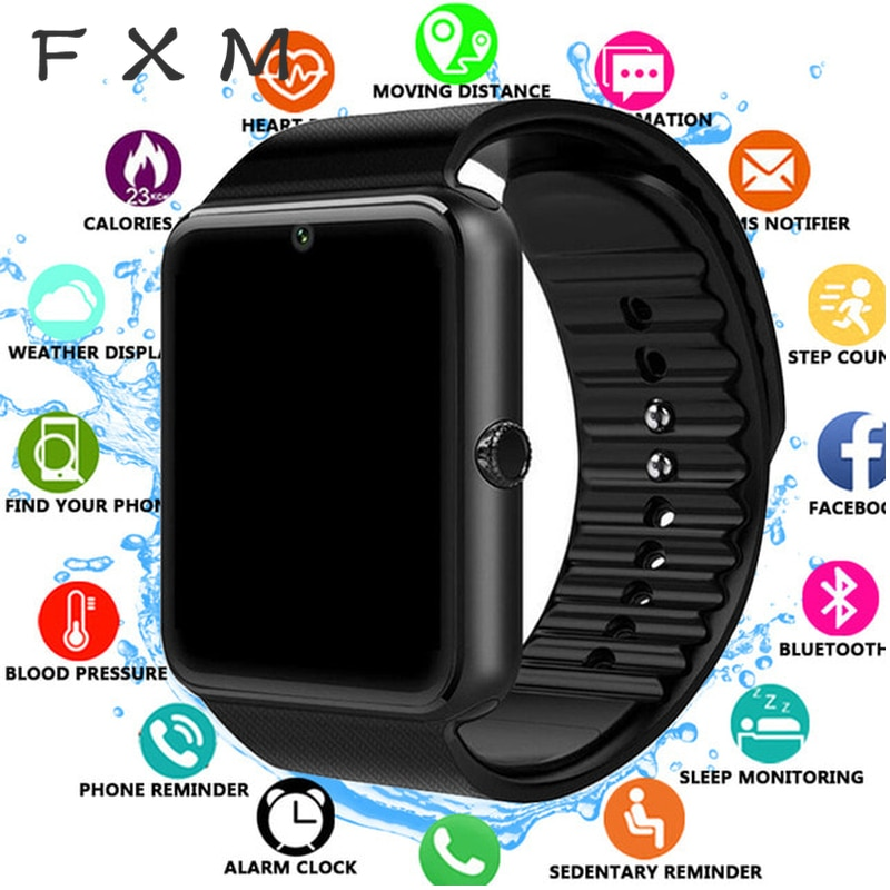 FXM Bluetooth Smart Watch Men for Iphone Phone for Huawei Samsung Android Support 2G SIM TF Card Cam