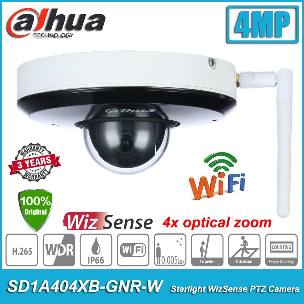 الأصلي داهوا SD1A404XB-GNR-W 4MP 4x زووم بصري POE واي فاي اللاسلكية ضوء النجوم الأشعة تحت الحمراء WizSense PTZ CCTV شبكة قبة كاميرا IP