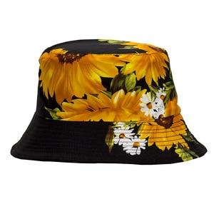 Panama Floral Print Bucket Hat Hip Hop Fisherman Hat Men Women Outdoor Summer Casual Cotton Sun Visor Bucket Cap Fahsion Bob