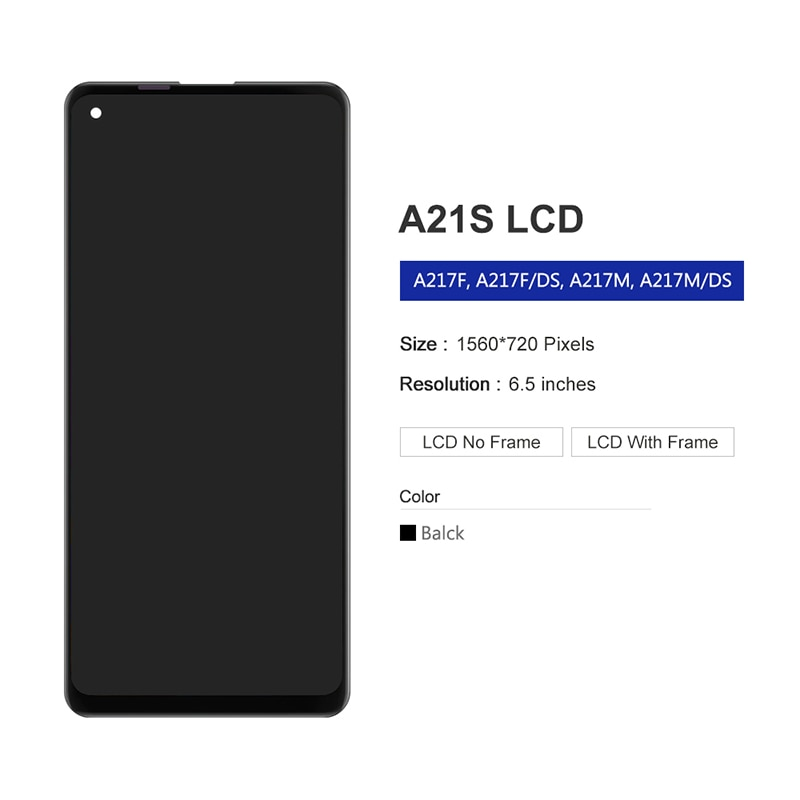 For Samsung Galaxy A21S LCD Display Touch Screen Digitizer Assembly On SM A217F A217 A 21S 217F Sm-A217F 100% Test enlarge
