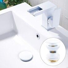 Évier de luxe Pop Up bouchon pour canalisation bassin salle de bain lavabo cuisine baignoire accessoires bouchon lavabo bouchon laiton noir or blanc