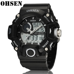 OHSEN LED Military Watch With Outdoor 50M Men Waterproof Sports Watches Male Fashion Clock Electronic Digital Display Wristwatch