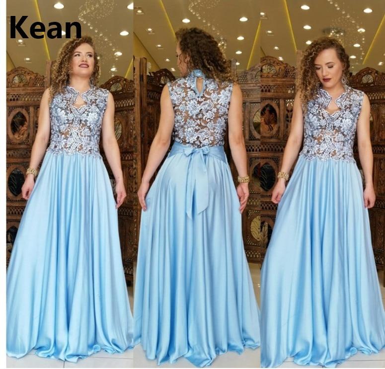 Купить с кэшбэком New Arrival Evening Dress V-Neckline A-Line Lace Illusion vestidos Islamic Dubai Kaftan Saudi Arabic Evening Gown Prom Dress