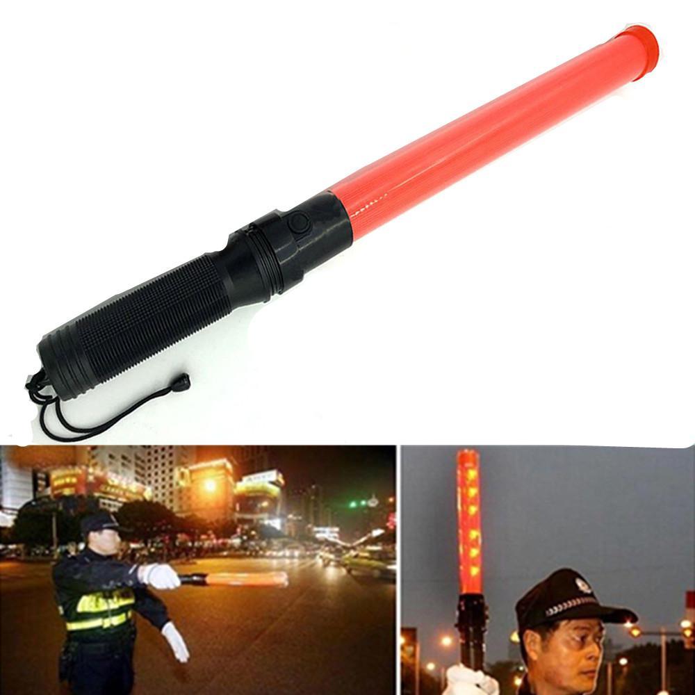 Outdoor LED Traffic Safety Signal Warning Flashing Wand Baton Police ref baton Safety signal command tool