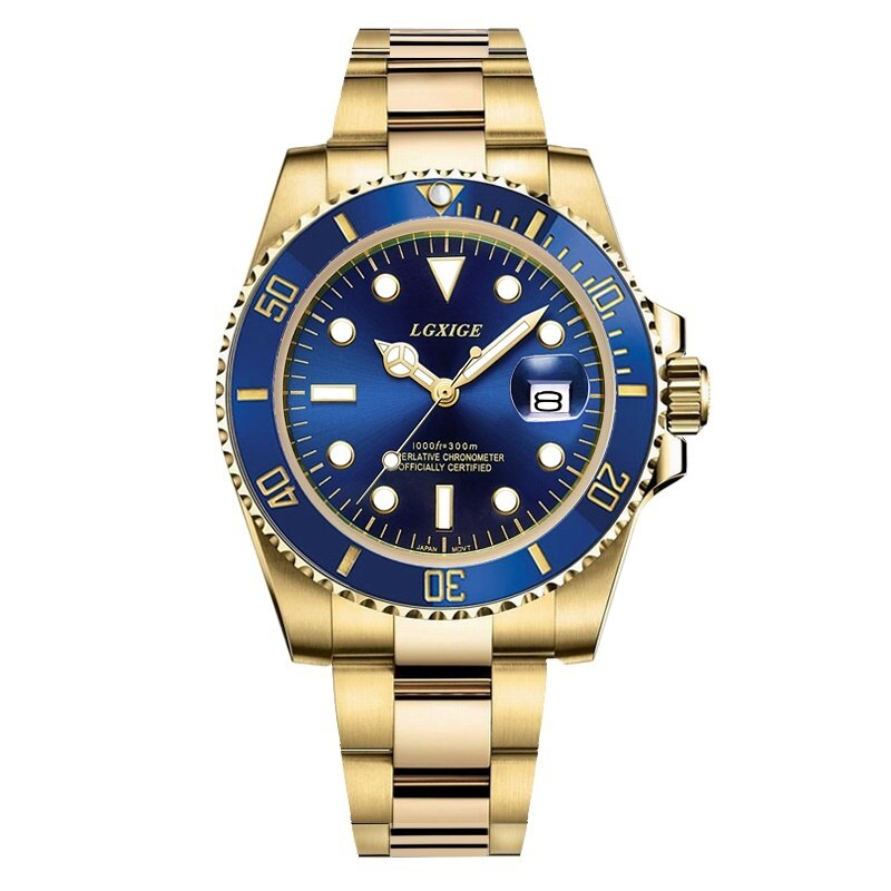 2020 novo aço completo dos homens relógios de luxo da marca superior relógio de quartzo para homens papel masculino 50m rolexable esportes aaa relógio de pulso